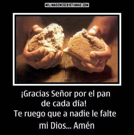 imagenes cristianas de gracias dios por el pan de cada dia