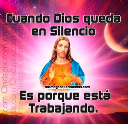 Imágenes cristianas cuando Dios queda en silencio