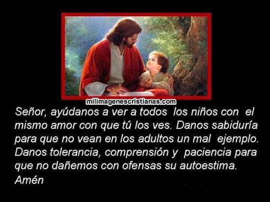 imágenes cristianas con oraciones para niños