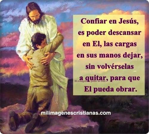 imágenes cristianas confiar en jesus es poder descansar en el