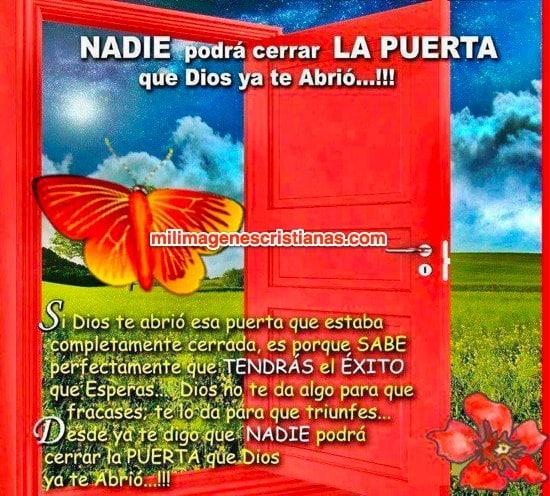 imágenes cristianas nadie podrá cerrar la puerta que Dios te abrió