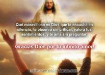 Imágenes cristianas: Gracias Dios por tu infinito amor!