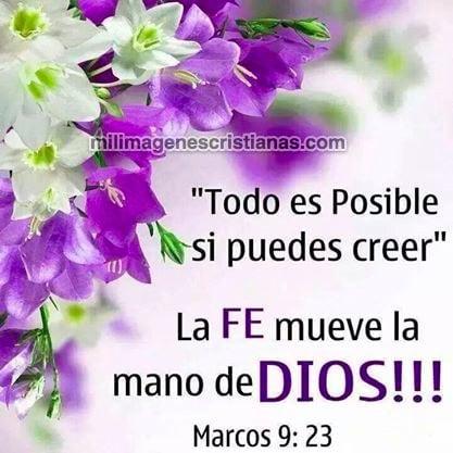 imágenes cristianas la fe mueve la mano de Dios