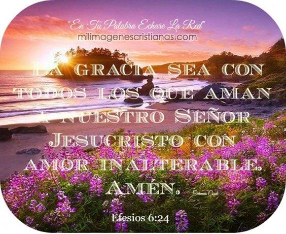 Imágenes cristianas: La gracia sea con todos los que aman
