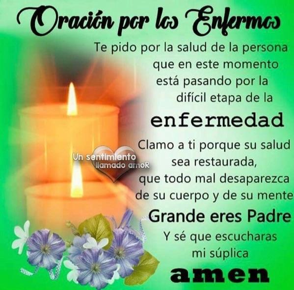 oraciones enfermos